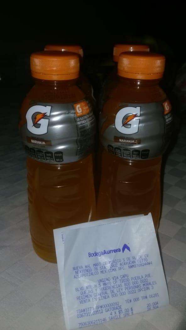 Bodega Aurrera: Gatorade sabor naranja $5