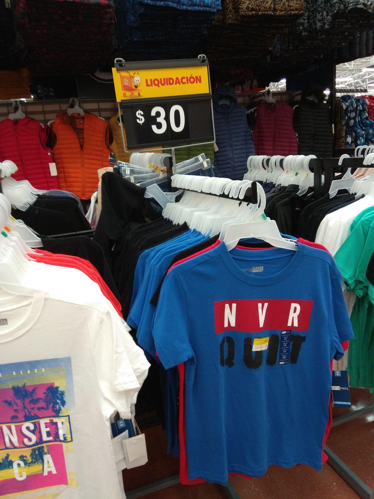 Walmart: playeras para hombre