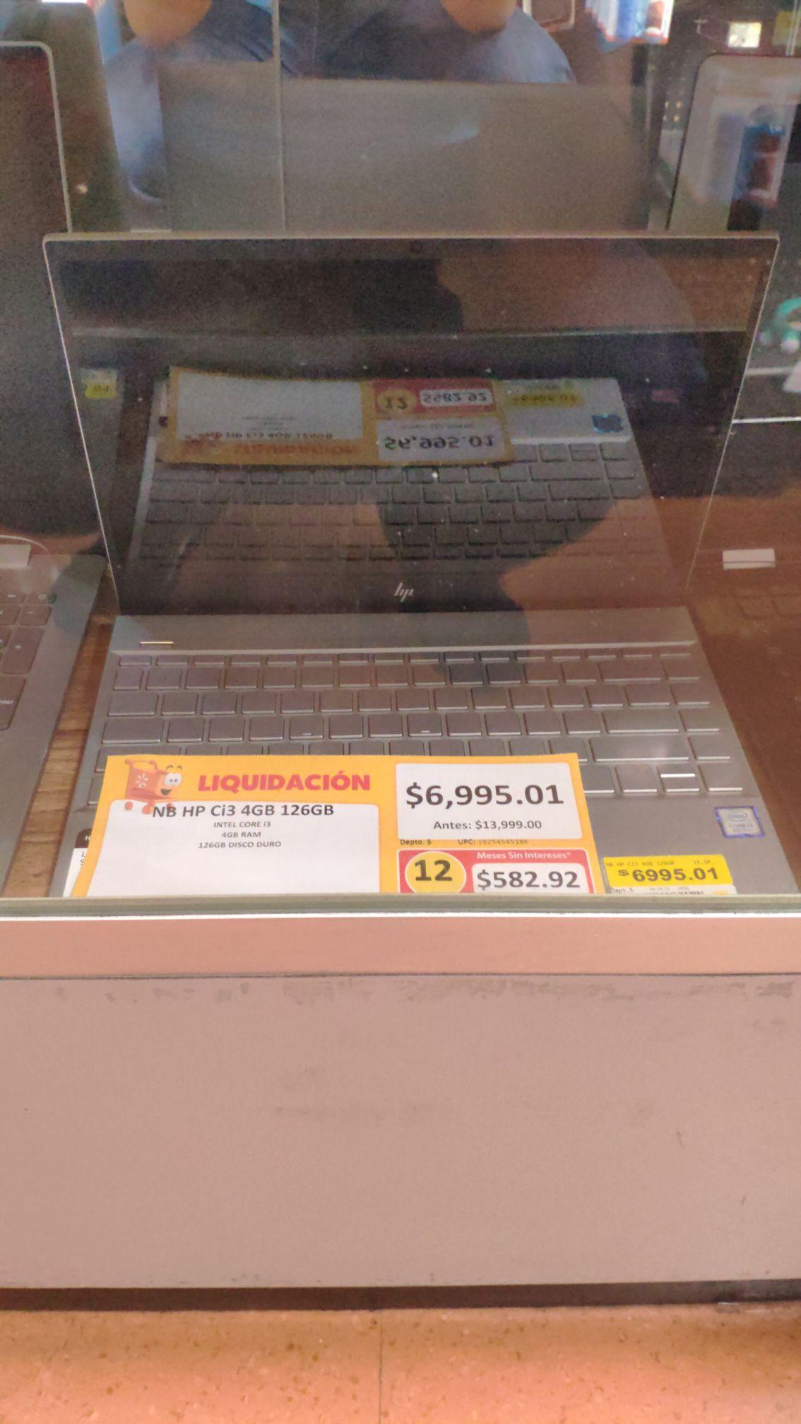 Walmart: Laptop HP i3 octava gen