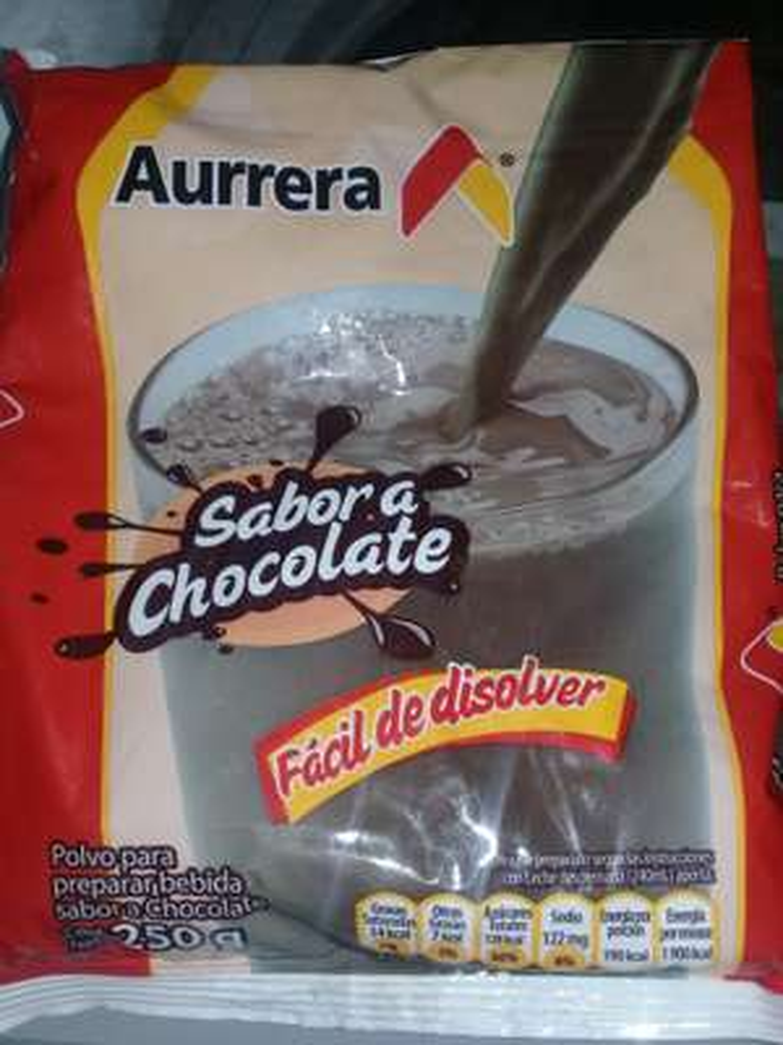 Bodega Aurrera: Polvo sabor chocolate Aurrera 250g