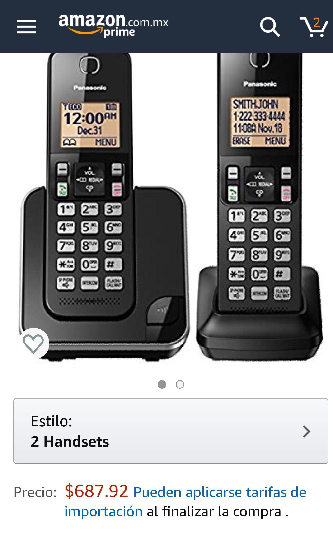 Amazon teléfonos inalámbricos Panasonic