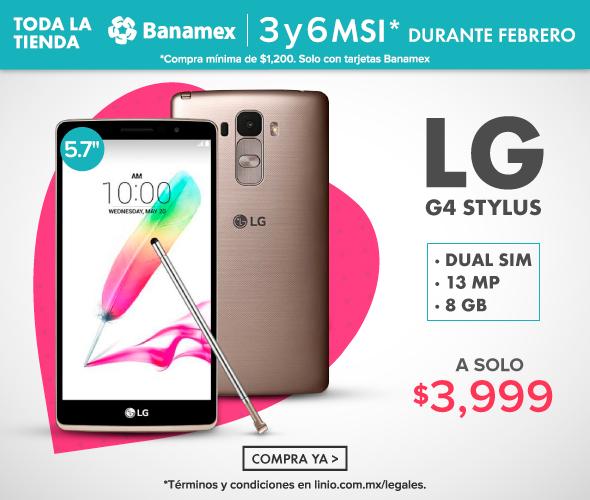 Linio: LG G4 Stylus Dual Sim H540- Dorado a $3,999