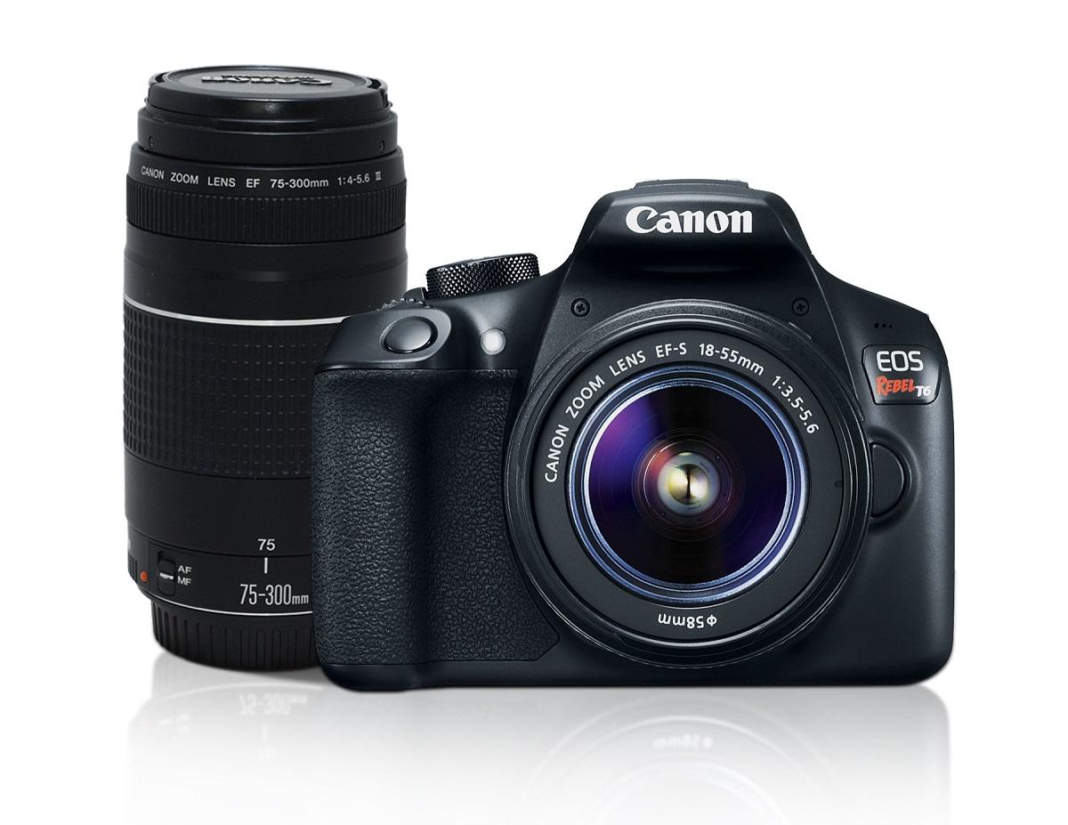 Best Buy: Canon Cámara EOS T6 EF-S 18-55mm DCIII +EF 75-300MM III