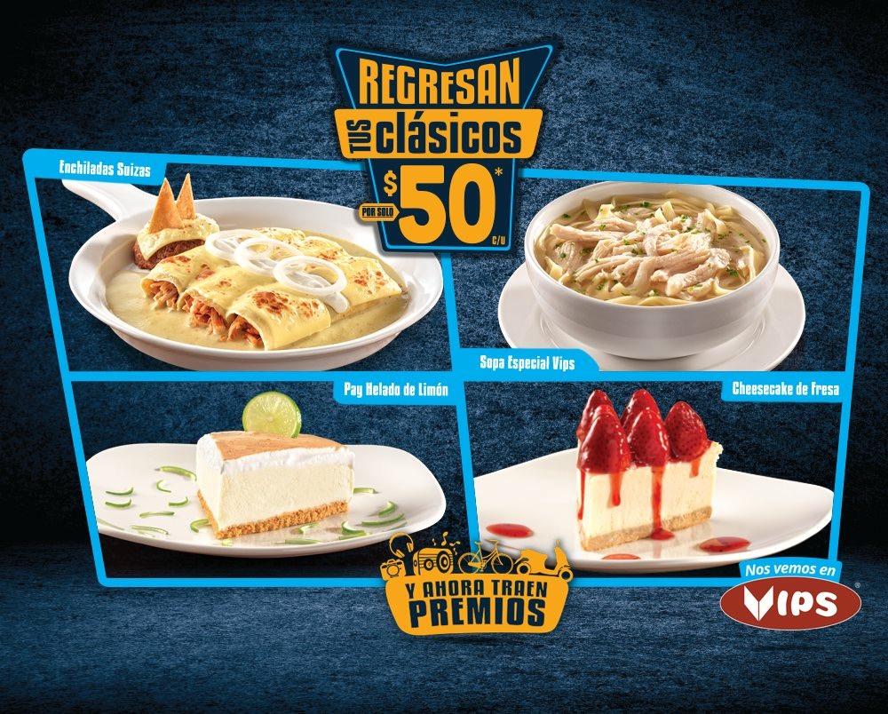 Regresan tus clásicos en Vips: enchiladas Suizas o sopa especial Vips a $50