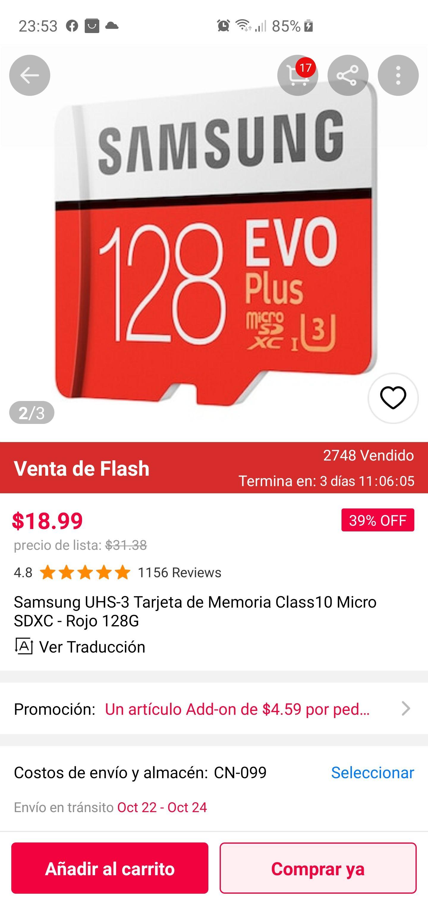 Gearbest: Micro SD card 128Gb || Samsung UHS 3 - C.10