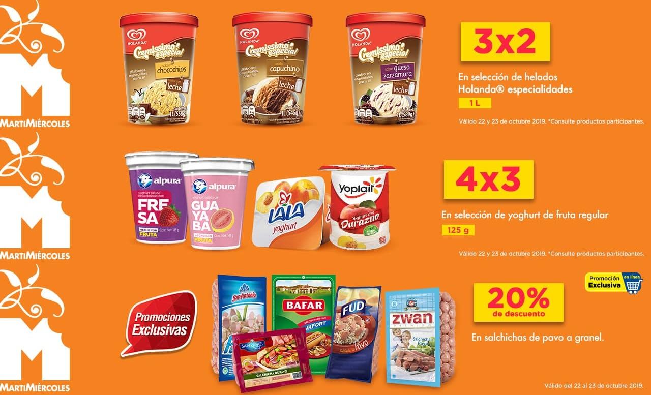Chedraui: 3 x 2 en Helados Holanda especialidades 1 L... 4 x 3 en yoghurt de fruta regular... 20% desc. en salchichas de pavo a granel