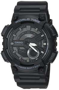 Amazon Casio Men's 'CLASSIC' Quartz Stainless Steel and Resin Casual Watch