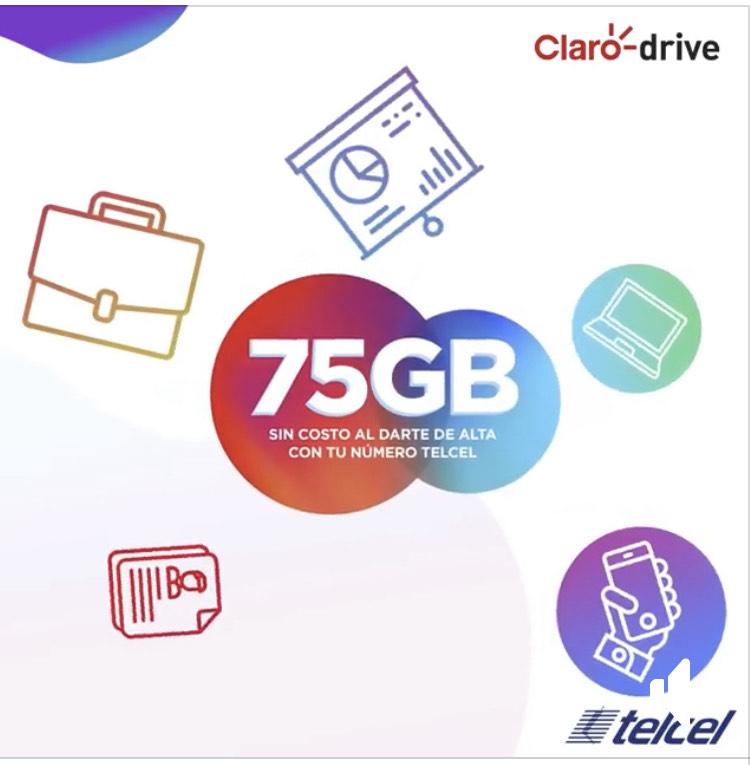 Claro Drive: 75 Gb de almacenamiento Gratis para usuarios Telmex, Telcel,