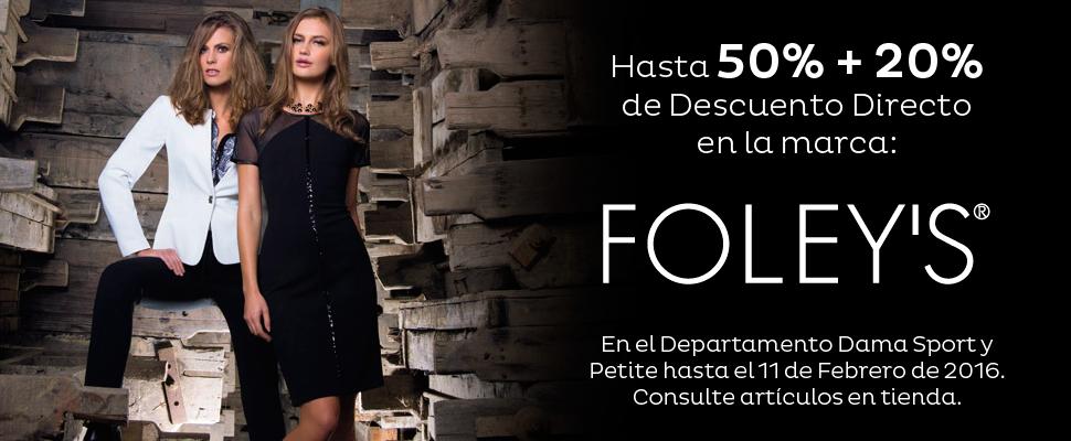 Sears: hasta 50% + 20% de descuento directo en la marca Foley's