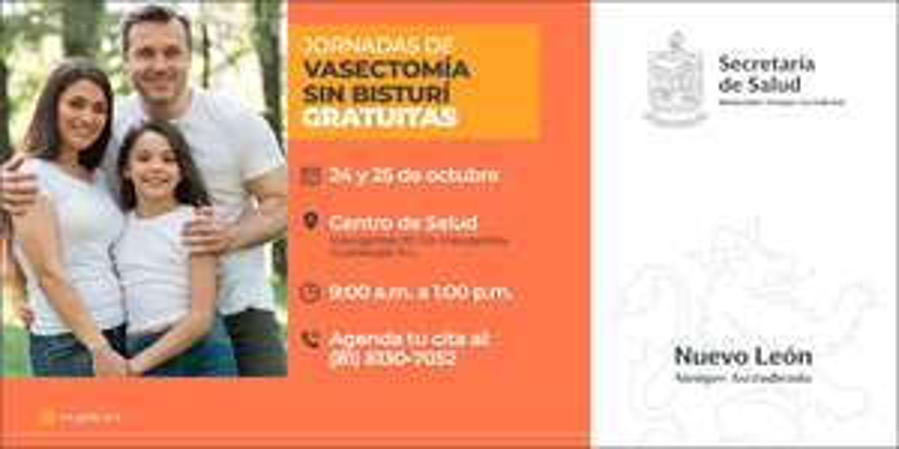 Vasectomía sin bisturí GRATIS en Nuevo León