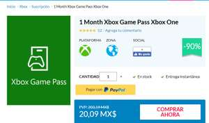 CDkeys 1 Month Xbox Game Pass Xbox One
