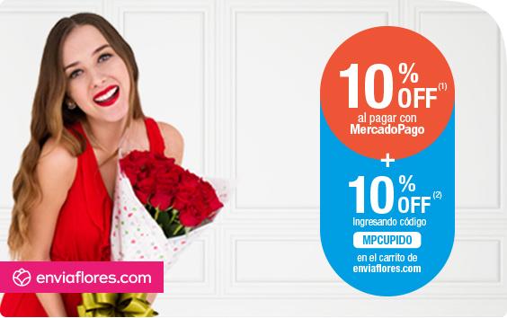 EnviaFlores: 10% de descuento con cupón + 10% adicional con MercadoPago