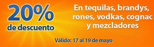 Chedraui: 20% de descuento en tequilas, rones, vodkas y más
