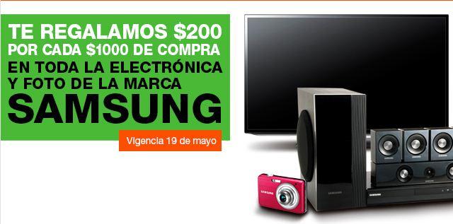 La Comer: $200 de descuento x cada $1,000 en marca Samsung y más