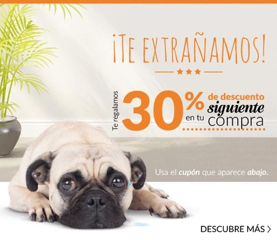 Petsy: 30% de descuento en compras menores de $2,000 con cupón.