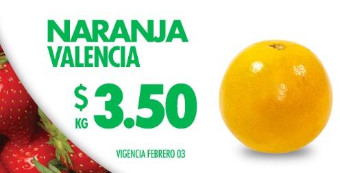 Miércoles de Plaza en Comercial Mexicana Febrero 3: naranja valencia a $3.50 el kilo y más