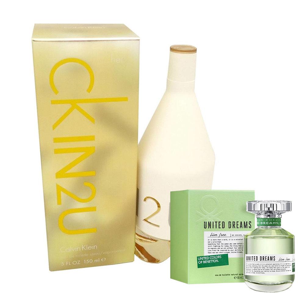 Walmart: Perfume Calvin Klein In 2U para Dama Eau de Toilette 150 ml + United Dreams Green Live Free de regalo a $799