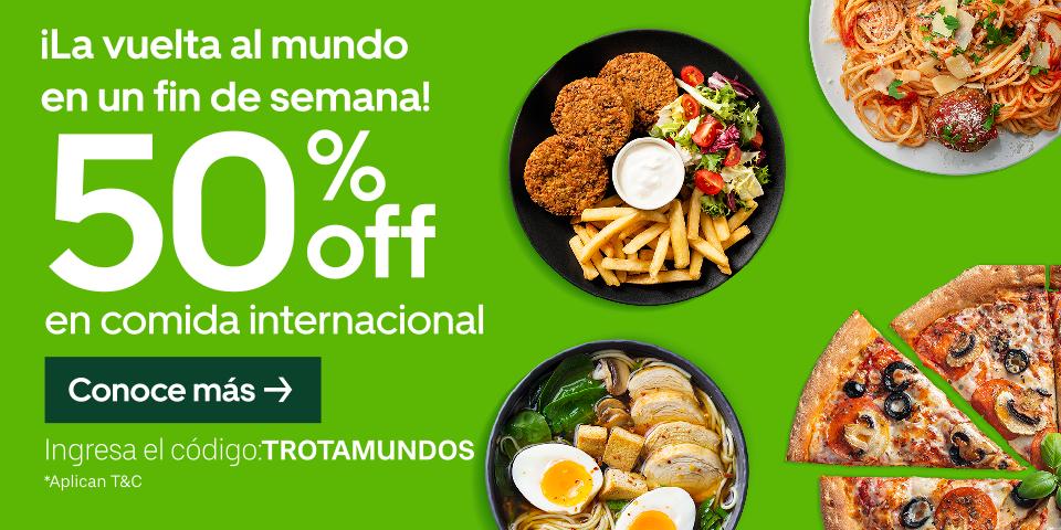 Uber Eats: 50% de descuento en comida Internacional (restaurantes seleccionados)