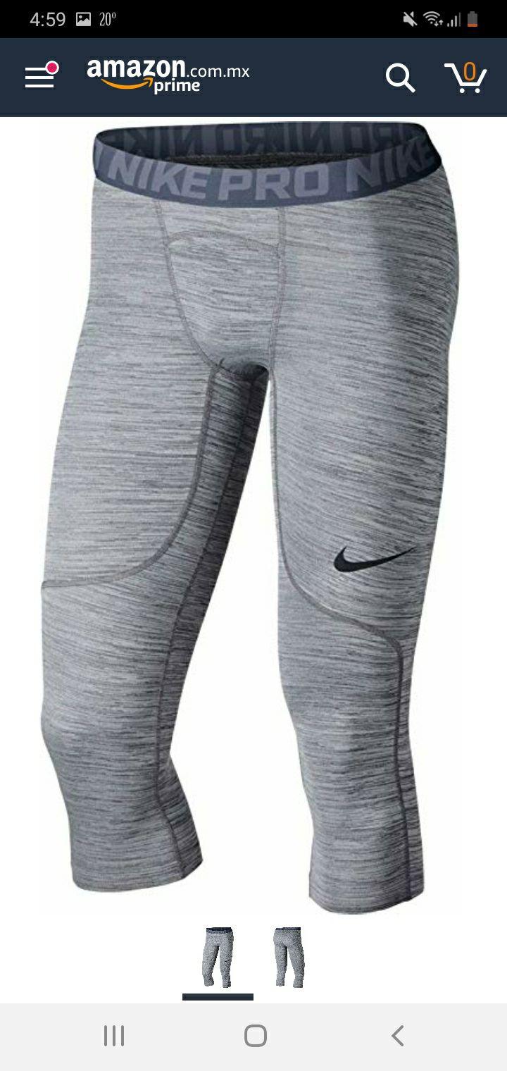Amazon: Nike Pro malla 3/4 GYM hombre.Talla CHICA.