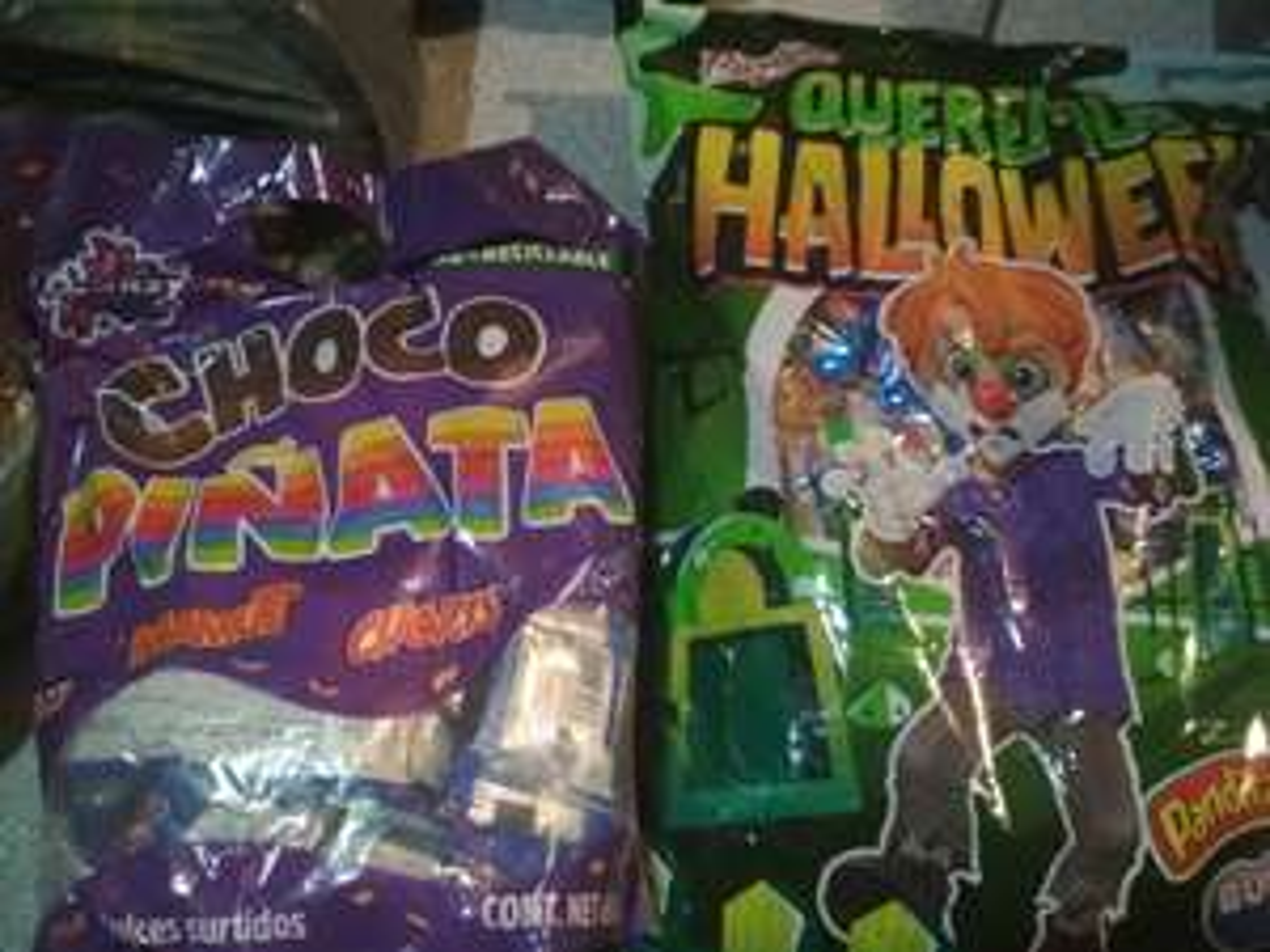 Walmart San Pedro: choco piñata y ricolino halloween