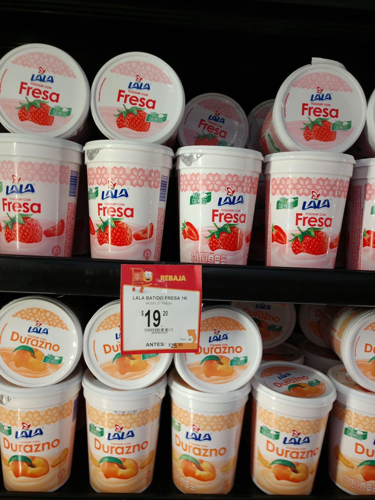 Walmart Xalapa: Yogurth Lala varios sabores