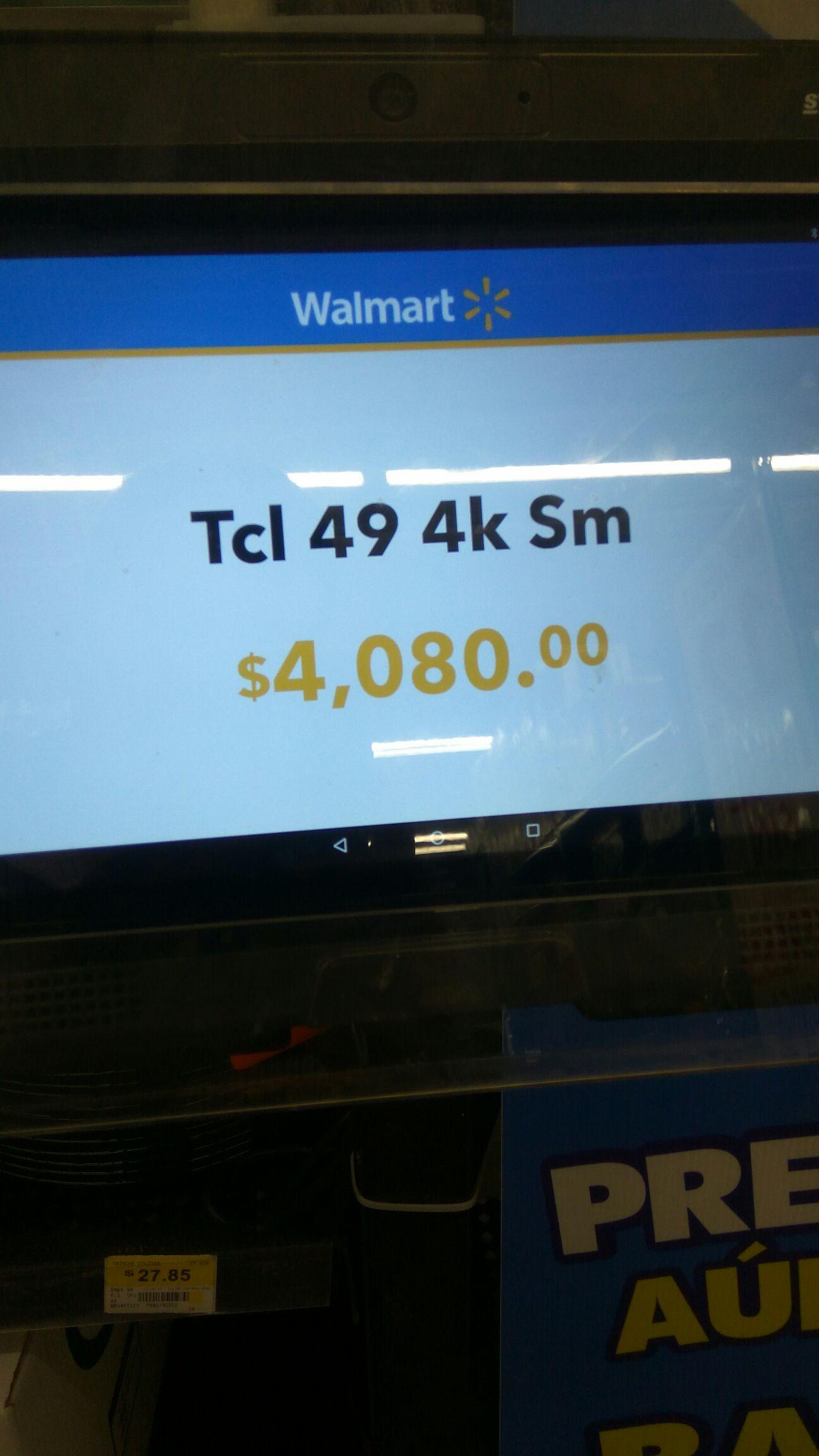 "Walmart CD Juárez Monumental: Pantalla Tcl 49"" 4k Smart TV"