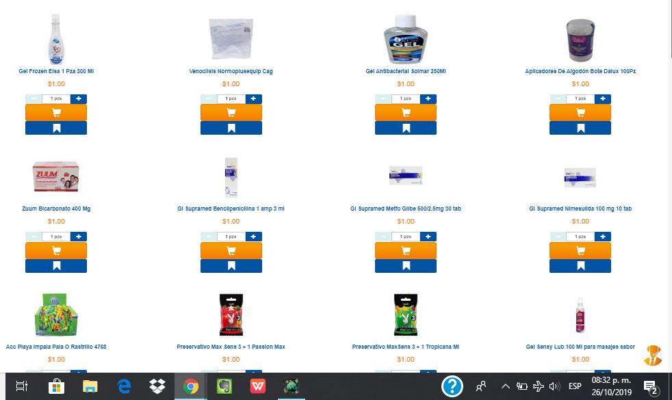 Chedraui en línea: Gel antibacterial y condones