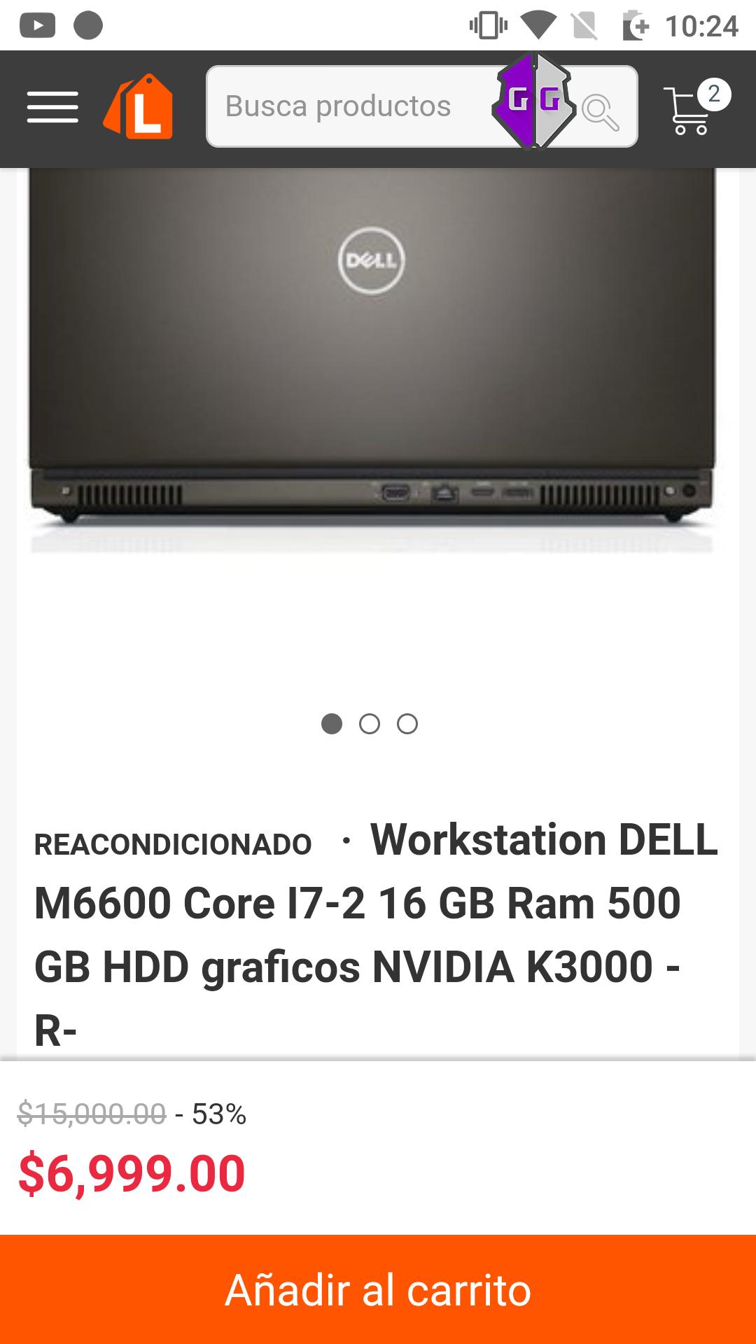 Linio: Workstation DELL M6600 Core I7-2 16 GB Ram 500 GB HDD graficos NVIDIA K3000 -R-