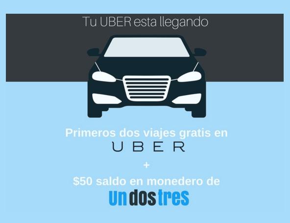 Recarga tiempo aire en Undostres y obten viajes gratis en Uber