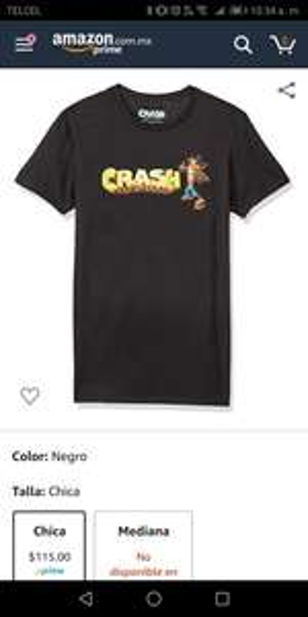 Amazon: Bioworld Crash Letters Camiseta para Hombre, Color Negro, Chico