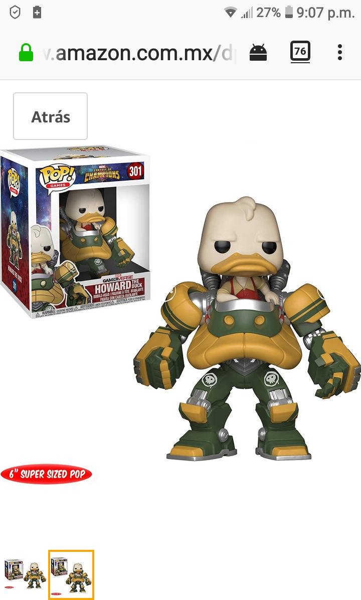 """Amazon: 6"""" Super Sized / Funko Figura Howard The Duck"""