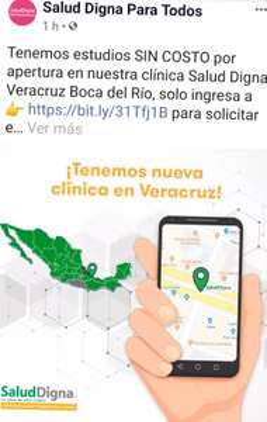 Salud digna VERACRUZ estudios GRATIS