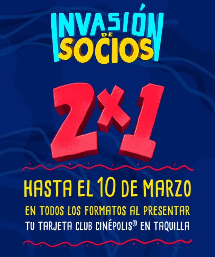 Cinépolis: 2x1 en TODOS LOS FORMATOS con Tarjeta Club Cinépolis