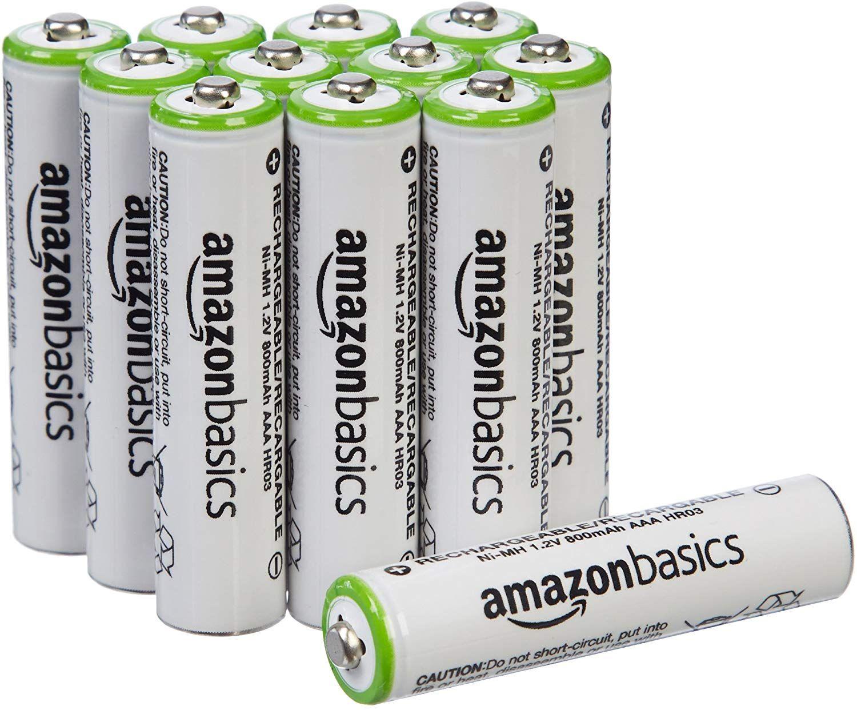 Amazon: Basics Baterías recargables AAA Prerecargadas