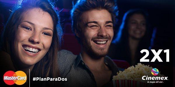 Cinemex: 2x1 todos los días pagando con MasterCard