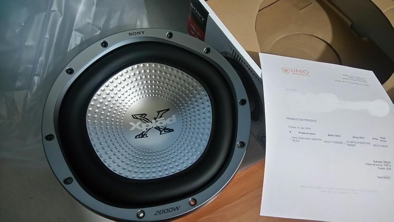 Linio: Subwoofer Xplod De 30 Cm de 2000 Watts a $599 Envio gratis Con Plus