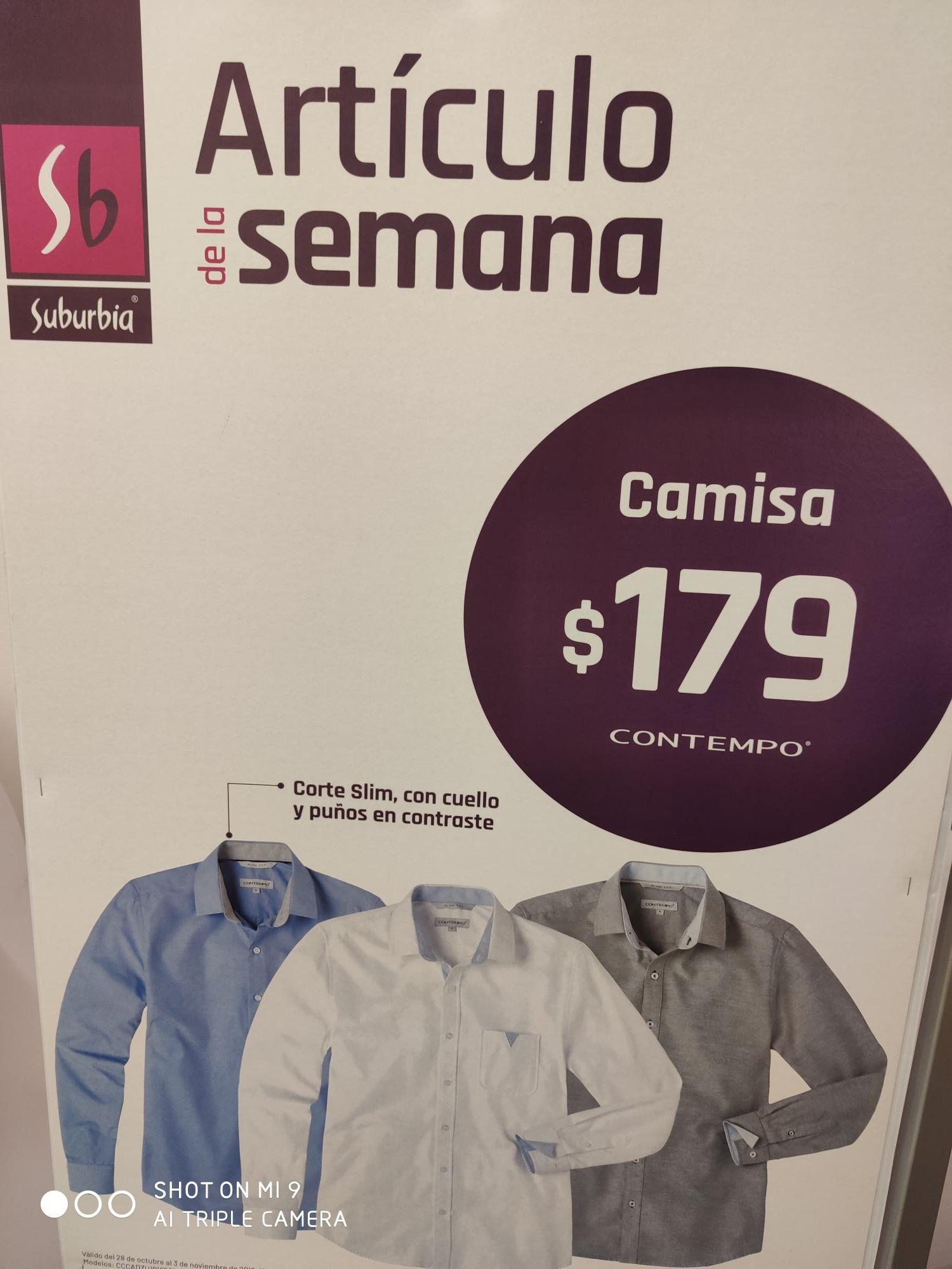 Camisas en Suburbia