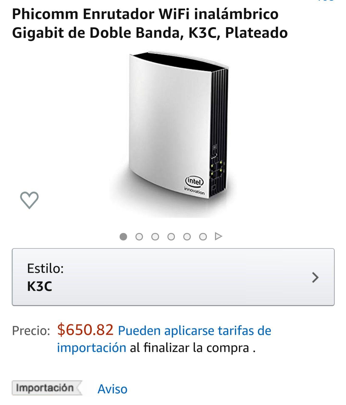Amazon: Phicomm Enrutador WiFi inalámbrico Gigabit de Doble Banda, K3C