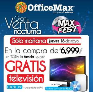 Venta Nocturna OfficeMax mayo 16