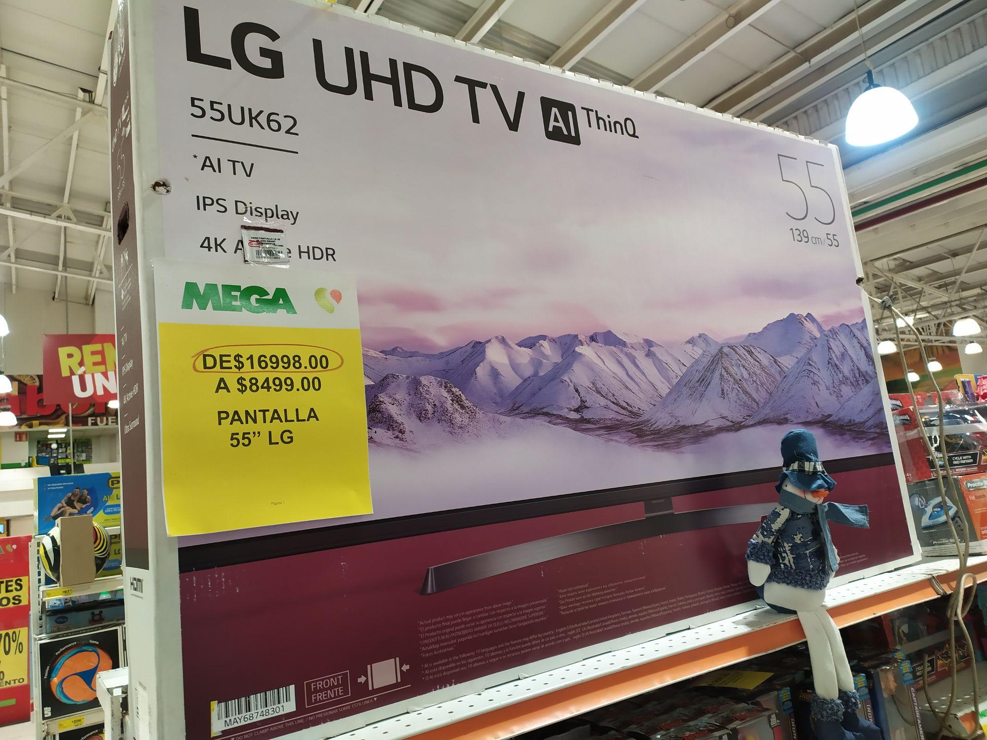 "Mega: Pantalla LG 55UK62 de 55"""