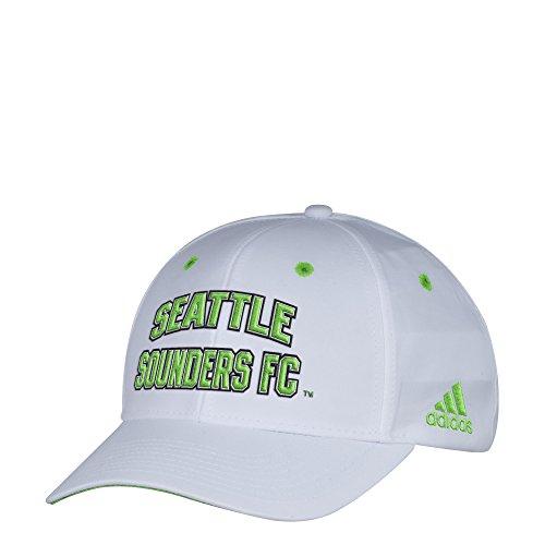 Amazon: Adidas MLS Seattle Sounders FC Gorra Ajustable estructurada Blanca para Hombre, Talla única, Color Blanco