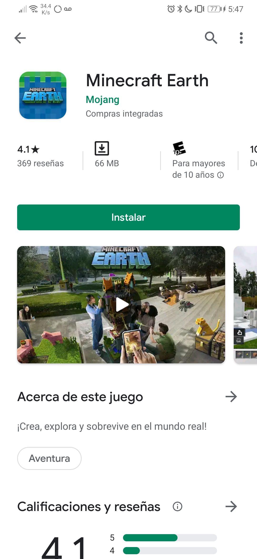 """Google Play: Fase de acceso anticipado de """"MINECRAFT EARTH"""" en Android ya disponible"""