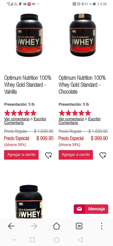 GNC: Proteína Whey Gold 5 Libras se 1699 a 999 envió gratis