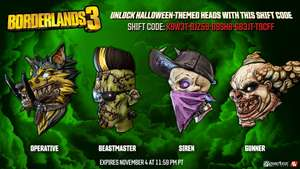Borderlands 3 halloween heads