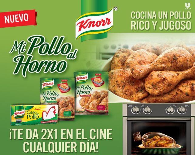 Cinemex: 2x1 con Mi Pollo al Horno y cubo de pollo Knorr