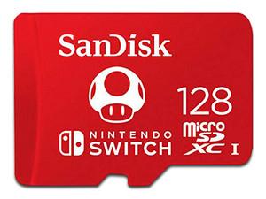 pcel Memoria MicroSDXC UHS-I U3 Sandisk de 128 GB para Nintendo Switch, clase 10