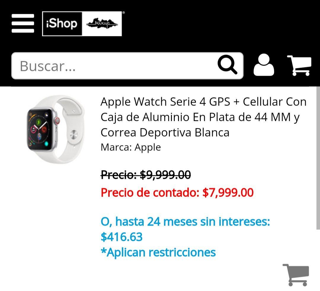 Mixup AppleWatch S4 44m Blanco GPS+Cellular