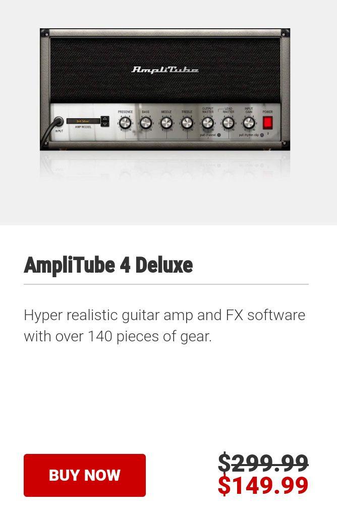 Ikmultimedia: PC/Mac Amplitube 4 Deluxe al 50% de descuento
