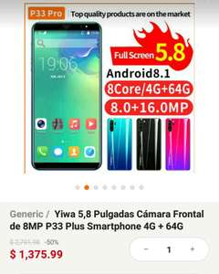 Linio: Smartphone 4gb/ 64gb