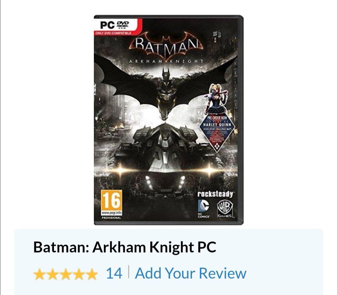 CdKeys - Batman Arkham Knight PC Steam